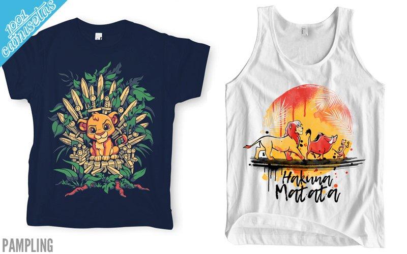 Camisetas El Rey León