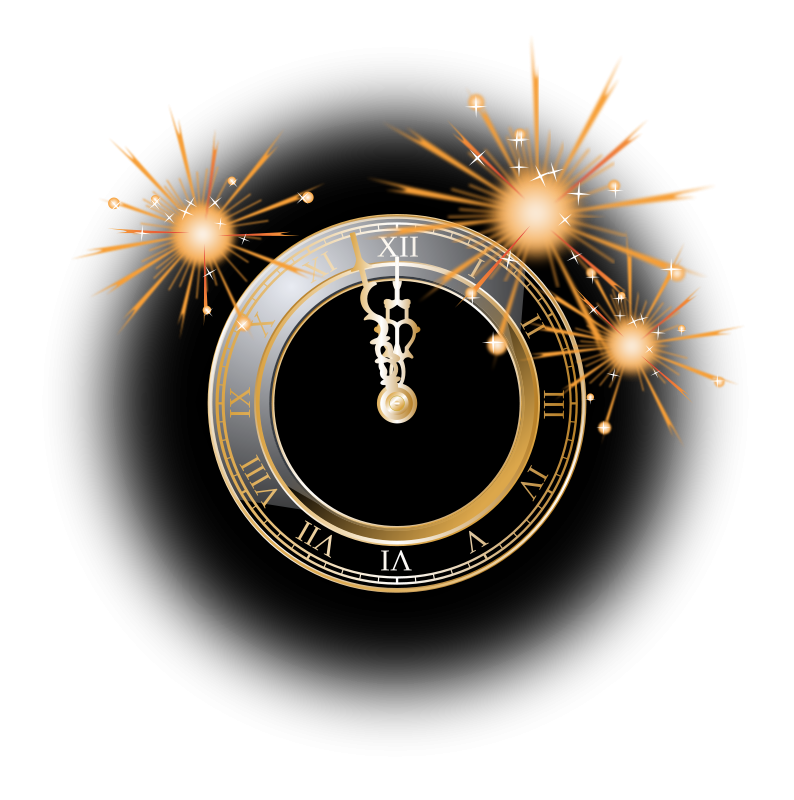 Free Clipart  New Year Clock   gnokii