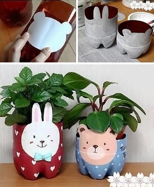 vasos feitos a partir de embalagem plástica3