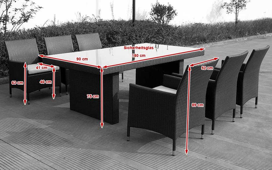 stół ogrodowy z technorattanu
