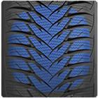Entailles d'un pneu hiver