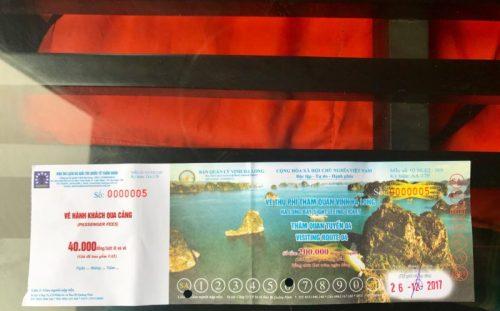 Ticket Halong Bay Vietnam