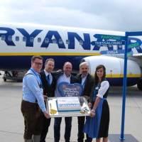 Flughafen Memmingen ist nun eine Basis von Ryanair