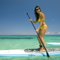 Voll im Trend Stand Up Paddling, warum nicht in der Karibik