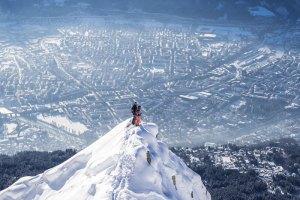 Blick von der Nordkette auf Innsbruck ©Klaus Polzer