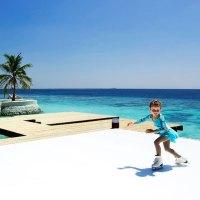 Eine Eislaufbahn auf den Malediven