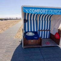 Logenplatz Strandkorb am UNESCO-Weltnaturerbe Wattenmeer