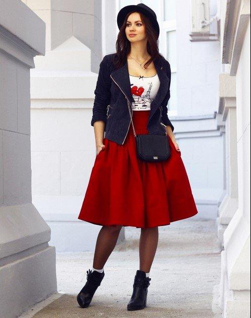 Юбки миди 20192020 с чем носить юбку миди фото идеи