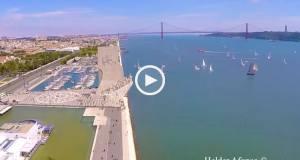 Incrível Lisboa vista do céu!