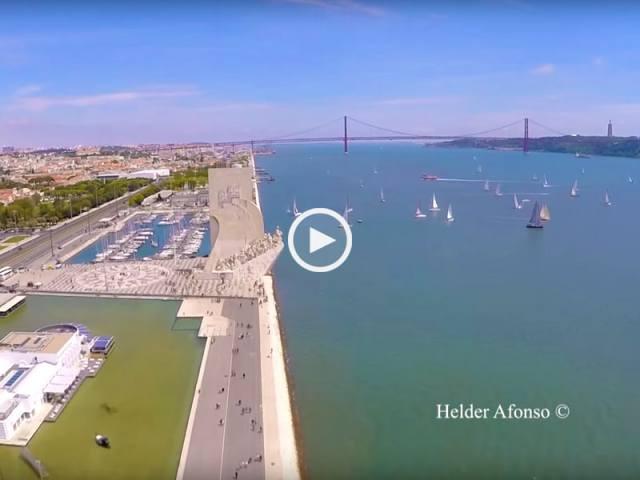 Incrível Lisboa vista do céu
