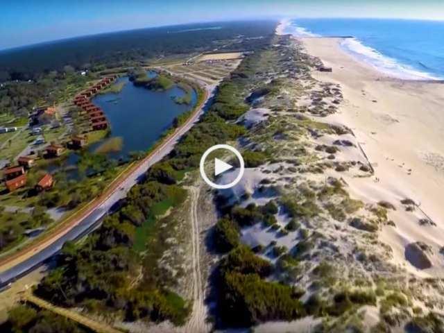 Maravilhosa Praia de Mira vista do céu