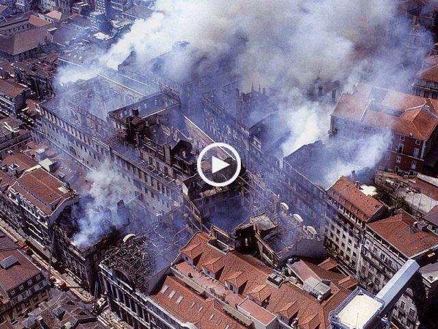 O grande incêndio do Chiado, Lisboa 1988