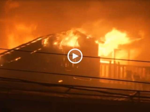 O inferno dos incêndios da madeira