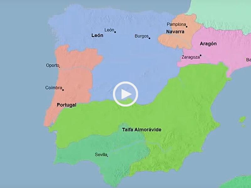 mapa historico de portugal Mapa Histórico de Portugal e Espanha em 3.000 anos   1001 TopVideos mapa historico de portugal