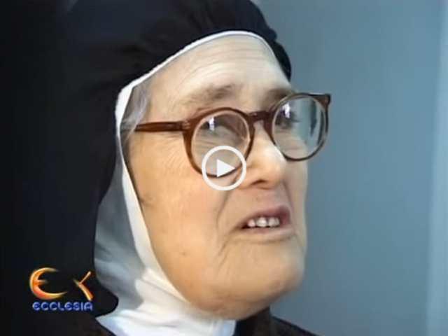 A Irmã Lúcia, com 93 anos!