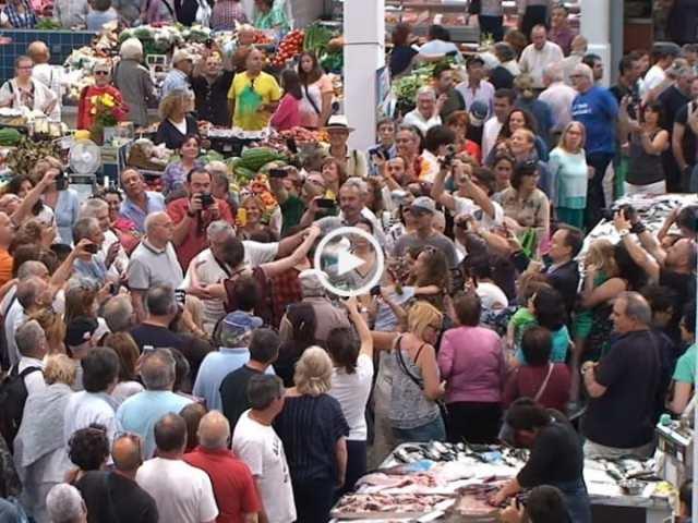 Espetacular surpresa no Mercado do Livramento, em Setúbal!