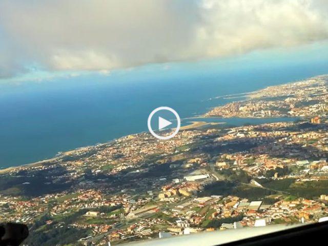 aterragem no Porto