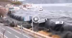 O poder do tsunami - Imagens Impressionantes