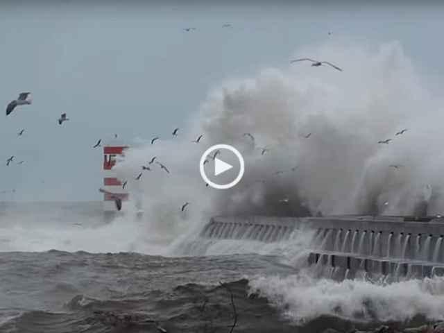 Tempestade na Foz do Douro, Porto!