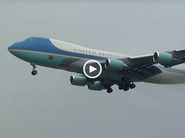 Air Force One aterra em Lisboa!