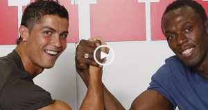 100m: Cristiano Ronaldo vs Usain Bolt