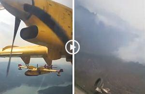Canadairs Espanhóis em Portugal mostram cenário devastador