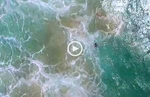 Drone salva duas pessoas na Austrália
