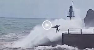 Surfista desafiou ondas em Câmara de Lobos
