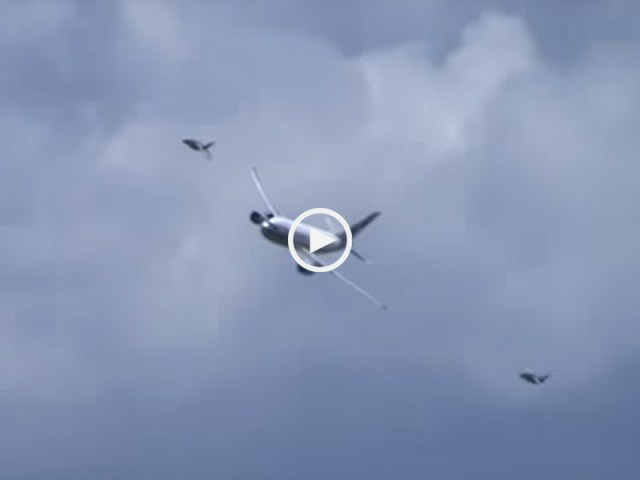 Avião da TAP é escoltado em Airshow