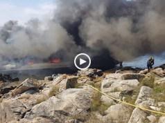 Catamarã arde na Galiza com 48 pessoas a bordo