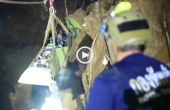 Tailândia: imagens inéditas do resgate no interior da gruta