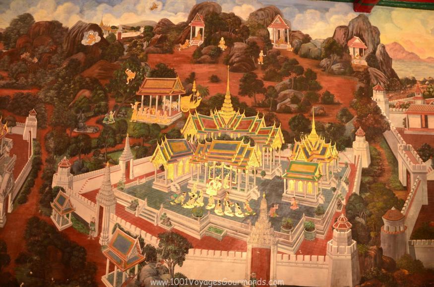 nástěnné malby v galerii Wat Phra Kaew