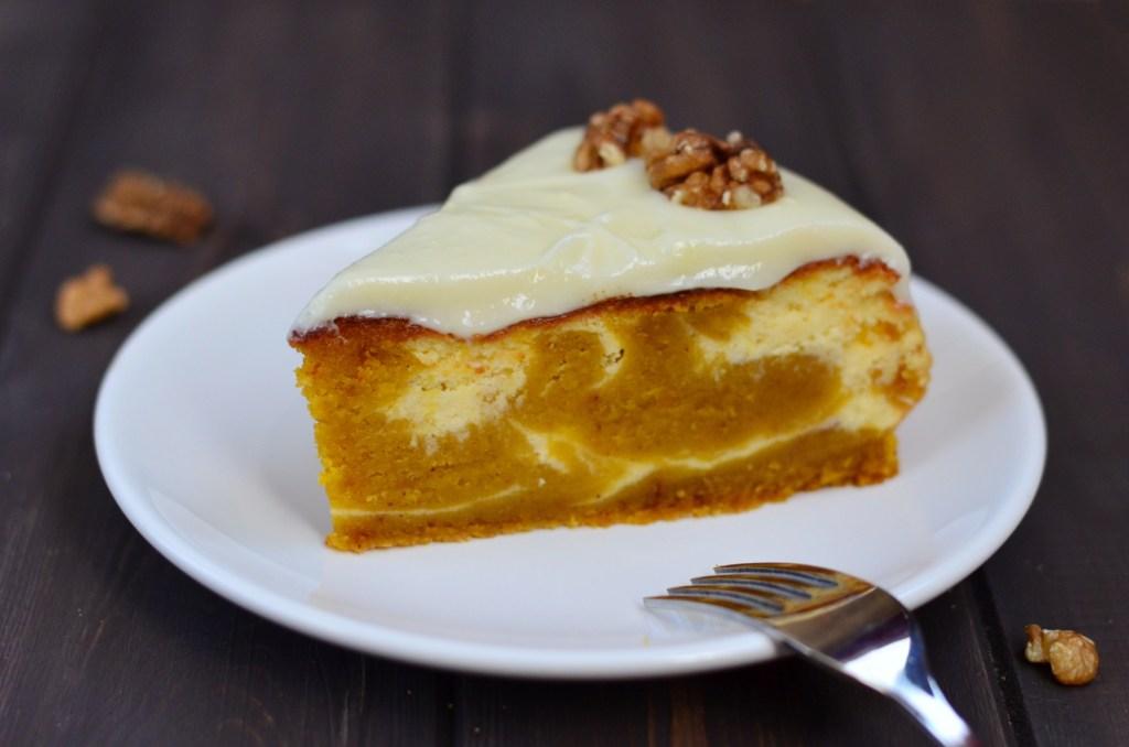 Dýňový koláč na způsob cheesecake