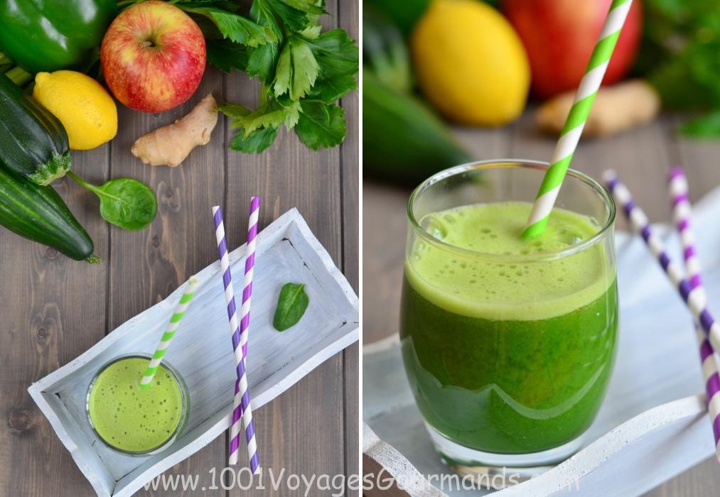 Zelený detoxikační džus