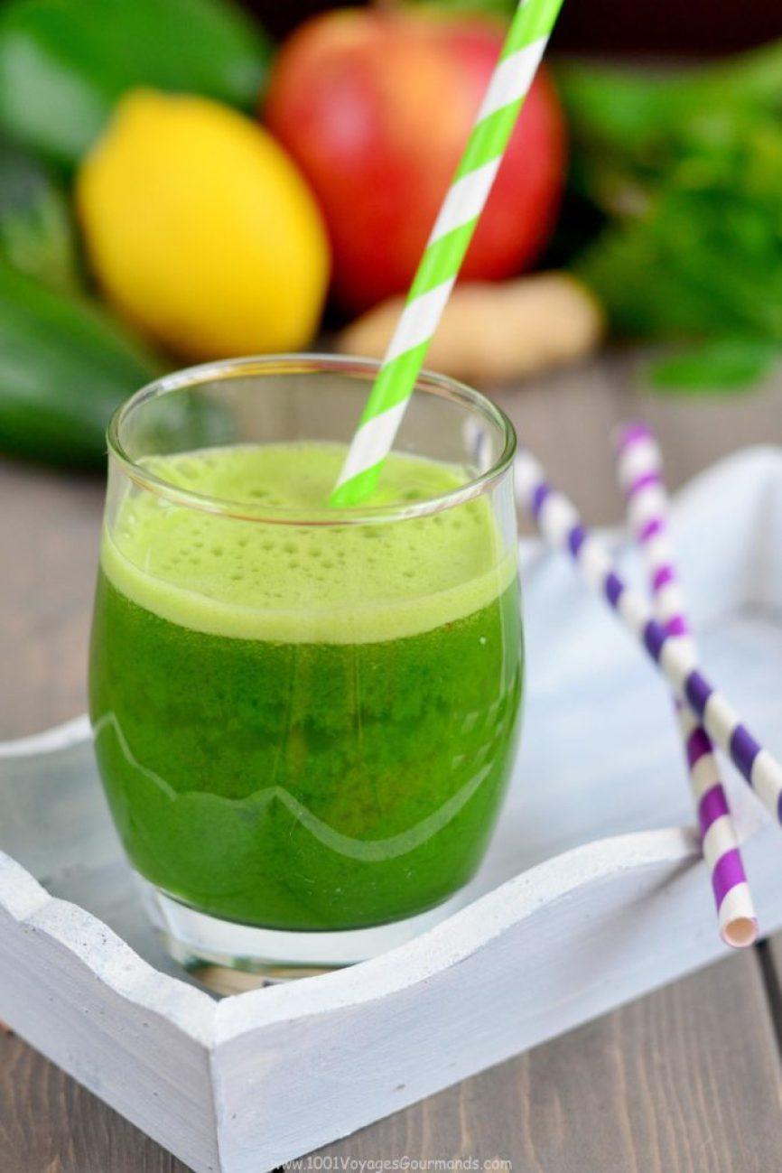 Zelený detoxikační džus1