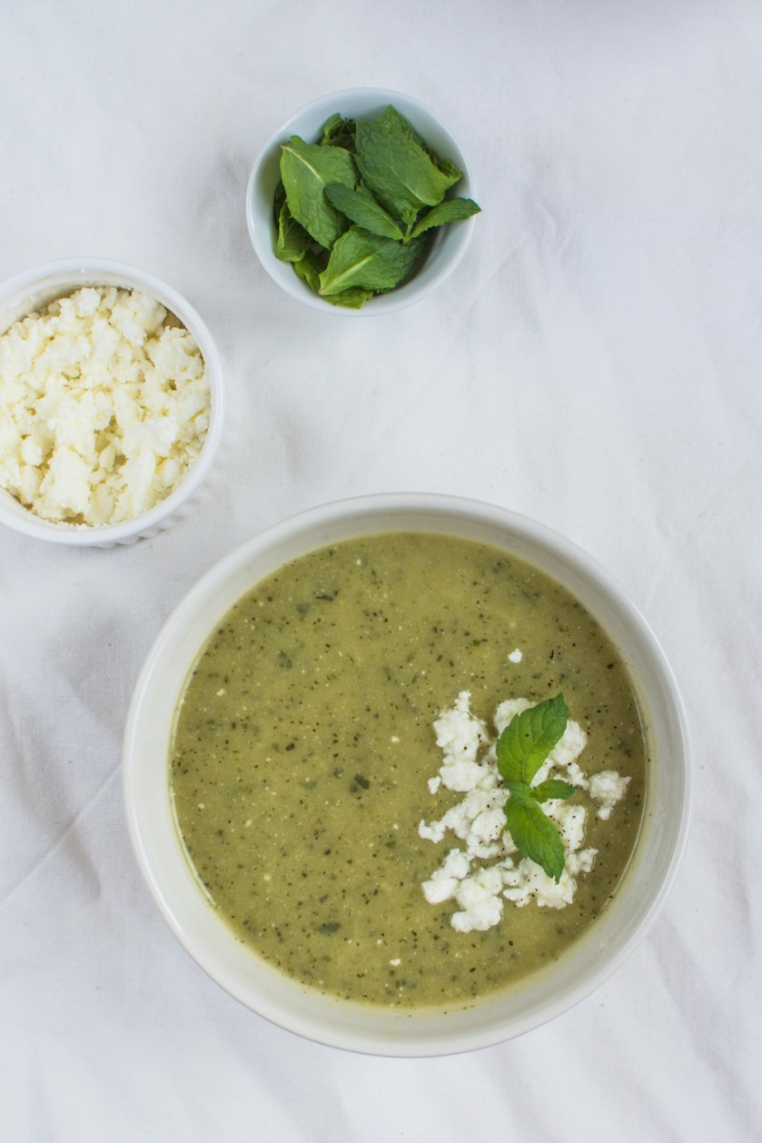 This simple Summery Zucchini Mint Feta Soup will simply surprise you! What I love about it is that it is delicious both when served warm or cold.