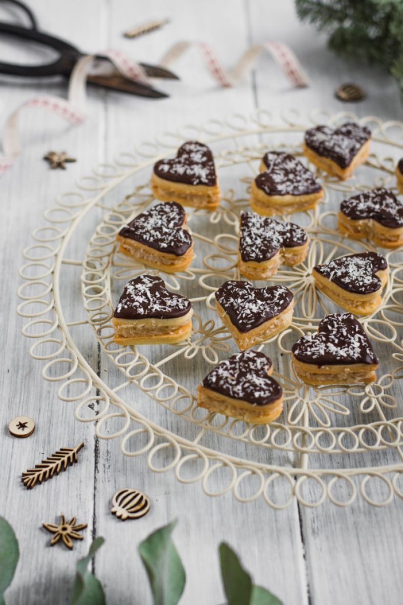 I have been baking these Coconut Honey Chocolate Hearts for a few years and they are one of those that disappear very quickly from the table!