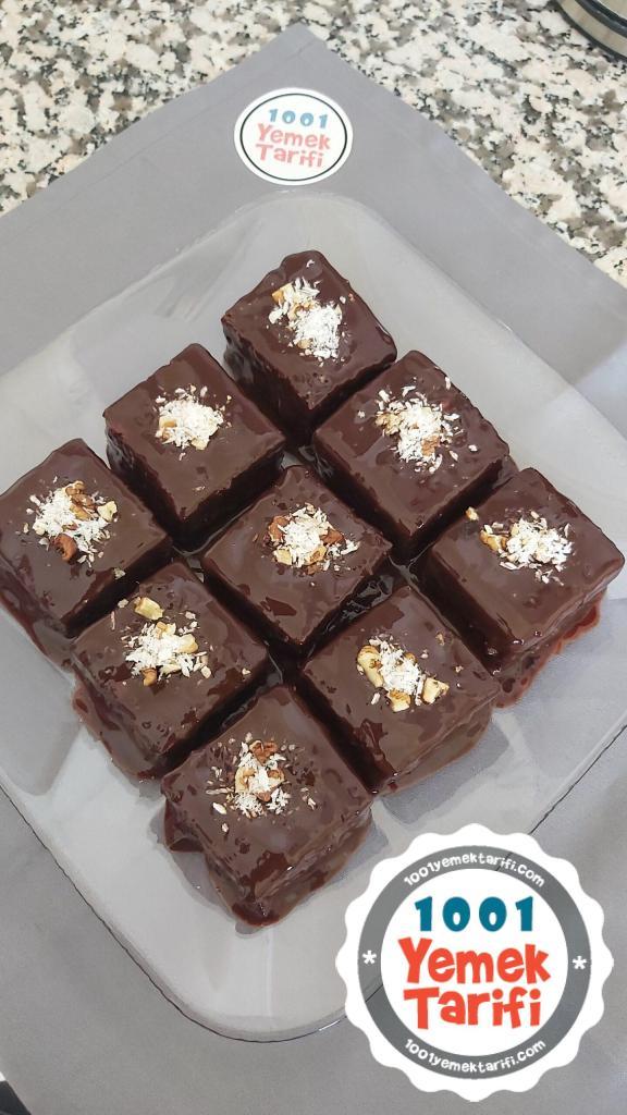 Çikolata soslu yeşil kek tarifi