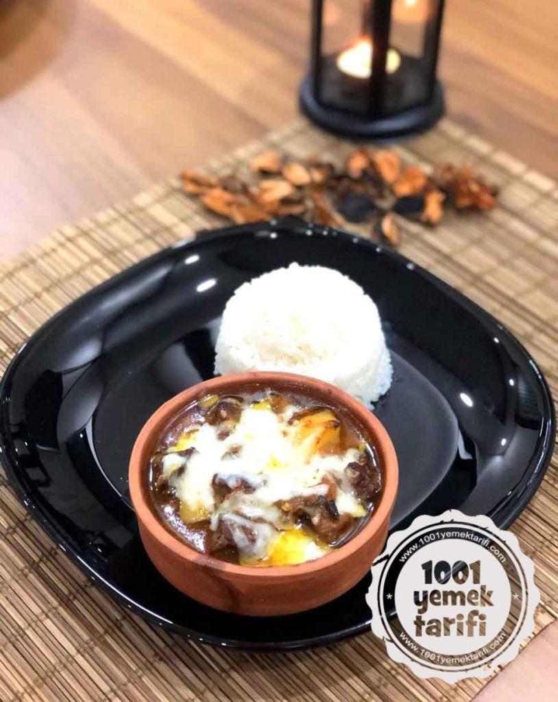 Guvecte Patatesli Kasarli Et Tarifi-nefis kolay ve ev yapimi yemek tarifleri-1001yemektarifi