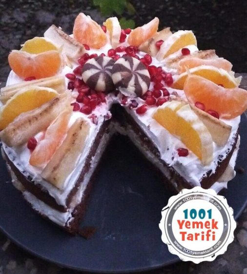 evde pasta tarifi-ev yapımı kolay yas pasta yapimi kac kalori-meyveli pasta nasıl yapılır
