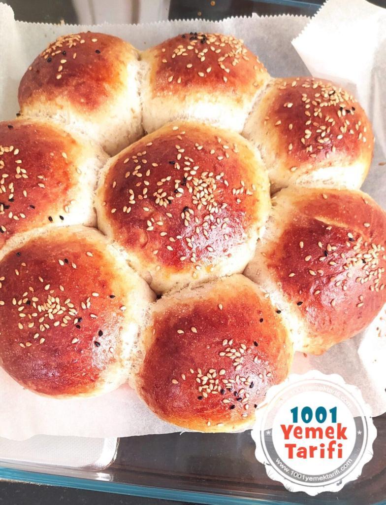 Tam Buğday Unlu Çiçek Ekmek Tarifi yapımı-nasıl yapılır-kaç kalori
