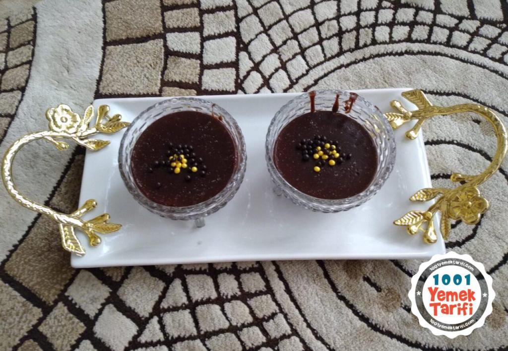 Çikolatalı Muhallebi Tarifi-nasıl yapılır-kolay yapımı