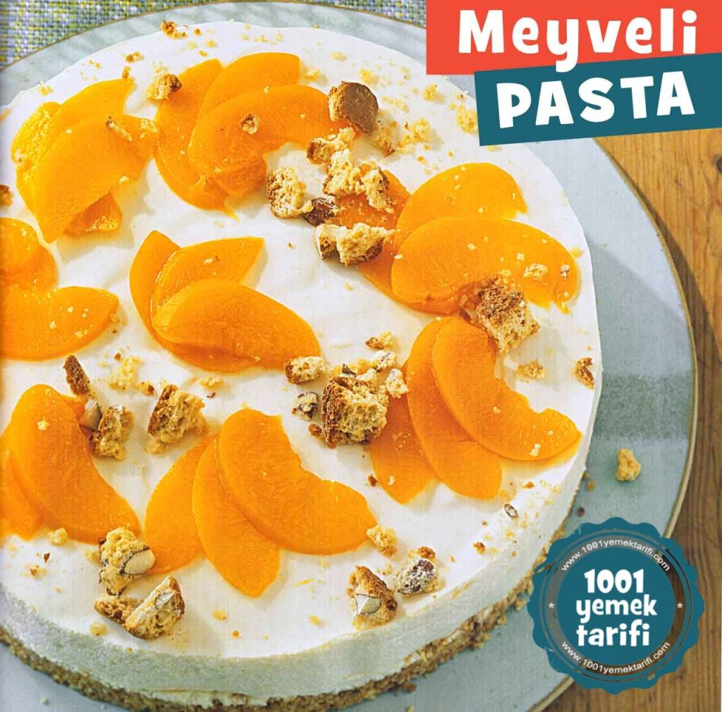 Meyveli Yas Pasta Tarifi-seftali-limon-portakal yapimi-yapilisi-nefis 1001yemektarifi-kac kalori-ev yapimi-evde puf noktasi