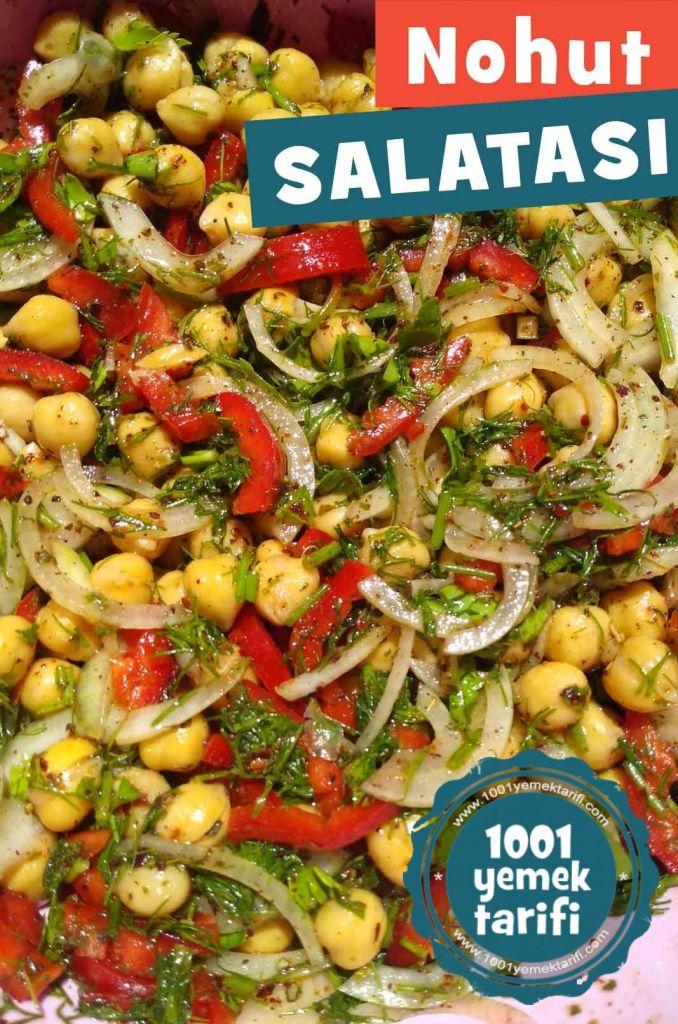 Nohut Salatasi-yapimi-nohut piyazi tarifi-kac kalori-nasil yapilir-nefis 1001yemek tarifi-kolay