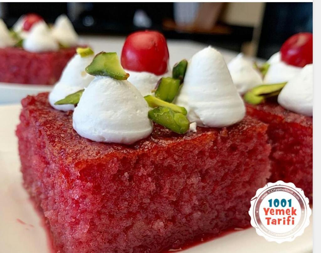 Vişneli Revani Tatlısı Tarifi yapımı nasıl yapılır kaç kalori
