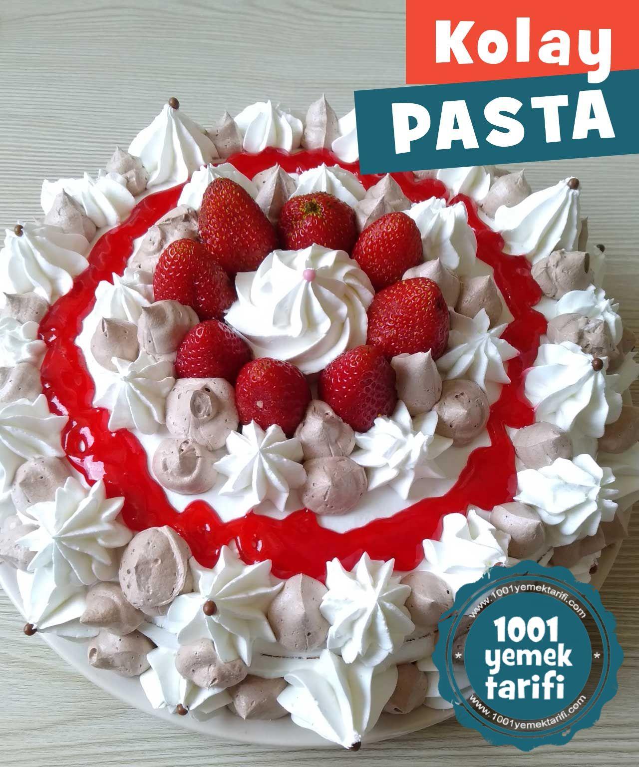 Evde Kolay Yaş Pasta Tarifi - 1001YemekTarifi