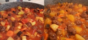 güveç tarifi-güveçte köfte yapımı