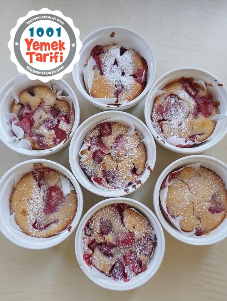 Çilekli Muffin Tarifi-nasıl yapılır