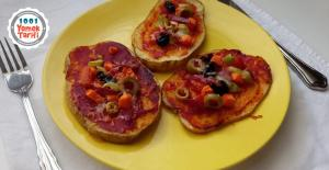 Patates Pizza Tarifi nasıl yapılır-kaç kalori-unsuz glutensiz pizza