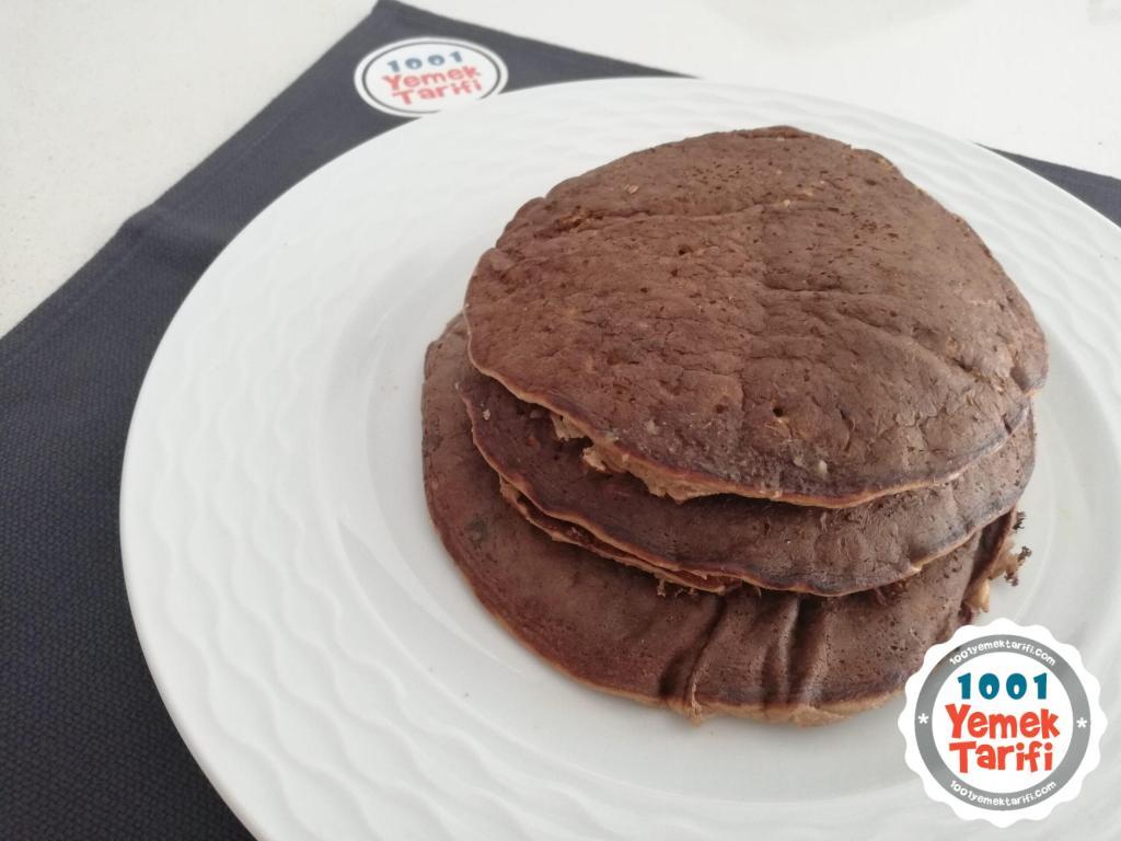 Unsuz, Yağsız ve Şekersiz Pankek Tarifi: Çikolatalı ve Muzlu Pankek | VİDEOLU